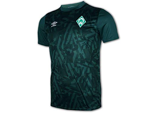 UMBRO Werder Bremen Kinder Warm Up Jersey grün SVW Fußball Junior Fan Shirt Club, Größe:158
