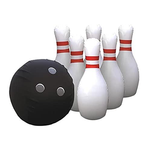 RONGXIANMA Bowling-Spielzeug 1 Satz riesiger aufblasbarer Kinder-Rasenspielball im Freien Tragbarer aufblasbarer Bowlingball