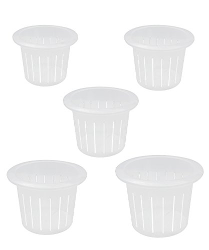 "coisound 1688 Orchid Breathable Slotted Clear Plastic Pot - Growers Assortment (10 pots - Two of Them are 4"",5"",6"",7"",7.5"")"