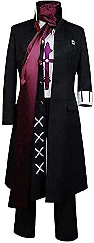 YBINGA Traje de cosplay Tanaka Gandamu para hombre y mujer, disfraz de anime para adultos, uniforme de cosplay, trinchera negra, juego completo de accesorios para cosplay (color femenino, tamaño: XXL)