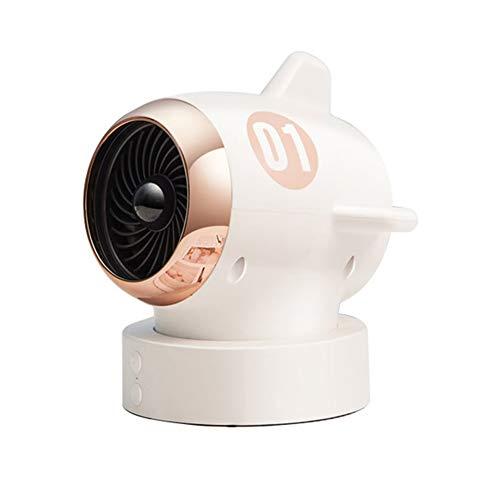 HEWYHAT Mini Calefactor, 650W portatil baño Estufa electricos bajo 220W Ventilador Consumo de Aire Caliente Bajo Consumo Silencioso...