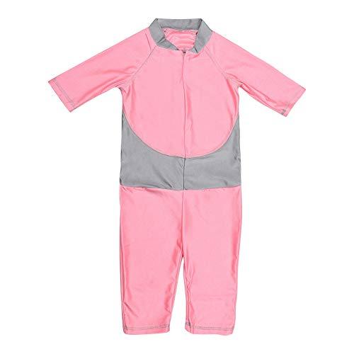 Baby meisjes badmode kind eendelig badpak bodysuit met ritssluiting zomer beschermende kleding voor kinderen X-Large roze