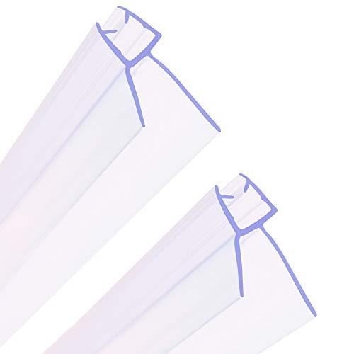 HNNHOME® - Juego de 2 juntas para puerta de baño para cristal de 4 a 6 mm, hasta 20 mm de espacio