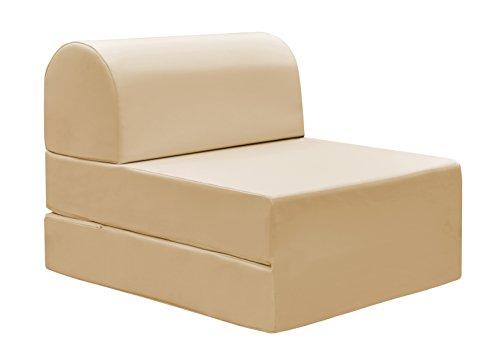 13Casa - Petra A5 - Pouff chaise longue trasformabile. Dim: 59x72x53 h cm. Col: Beige. Mat: Ecopelle.