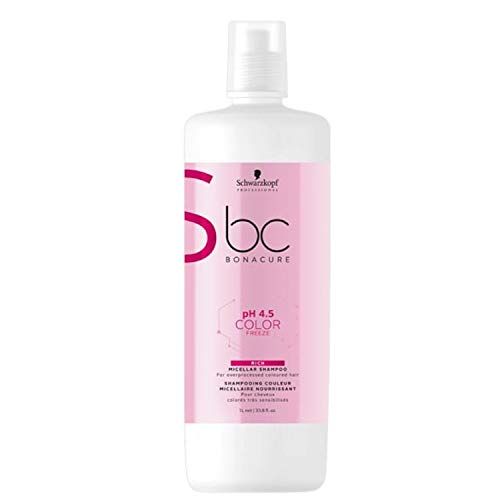 Schwarzkopf Professional BONACURE ph 4.5 Color Freeze Micellar Rich Shampoo, 1 l