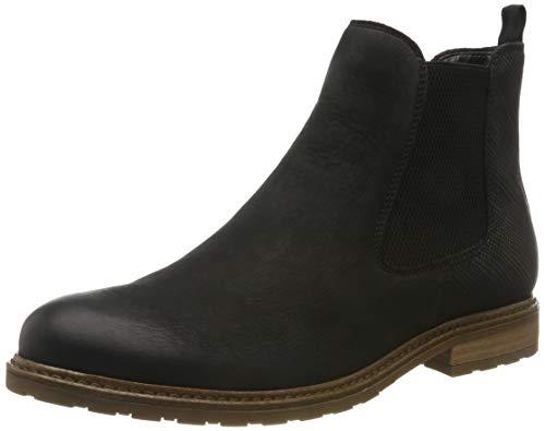 Tamaris Damen 1-1-25056-23 Chelsea Boots, Schwarz (Black/STR. 21), 38 EU