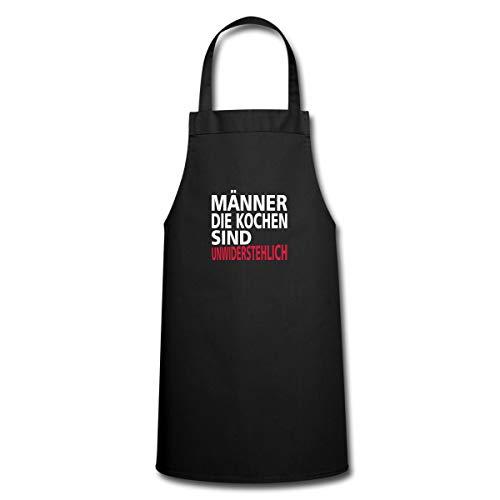 Männer Die Kochen Sind Unwiderstehlich Spruch Kochschürze, Schwarz