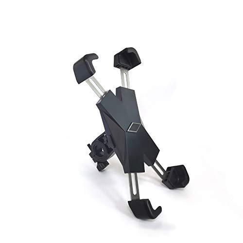 DRAGON SLAY - Supporto per navigatore satellitare in metallo per bicicletta, in acciaio inox, anti-agitazione e rotazione a 360°, compatibile con telefoni da 4,5' a 7,2'