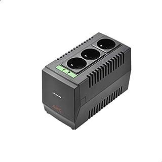 منظم الجهد الكهربائي الاوتوماتيكي بثلاث مخارج لاين-ار من ايه بي سي LS1500-FR، 1500 فولت امبير، 230 فولت - اسود