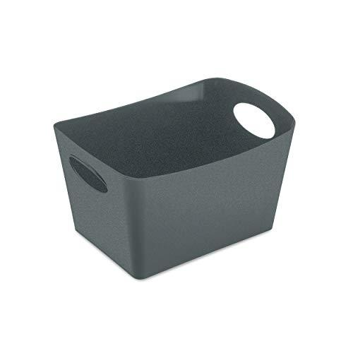 Koziol Aufbewahrungsbox Boxxx S, Box, Kiste, Korb, Aufbewahrung, Thermoplastischer Kunststoff, Organic Deep Grey, 1 L, 5745673