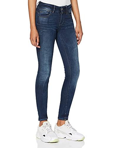 G-STAR RAW Damen Lynn Mid Waist Skinny D06746 Jeans, Blau (Faded Blue 6553-a889), 30W / 32L