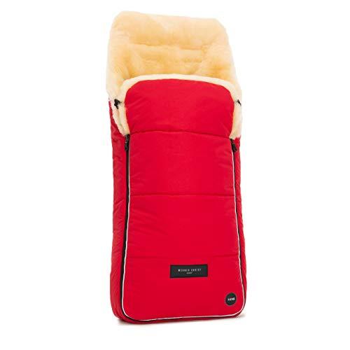 Sacco per passeggino AROSA LUXE in pelle di agnello medicale di WERNER CHRIST BABY – Morbido inserto per buggy o come materassino, Qualità PREMIUM - Colore peperoncino rosso