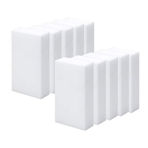 Nsdsb Paquete De 10 Esponja De Limpieza Mágica Borrador De Espuma De Melamina Removedor De Suciedad De Manchas Blanco