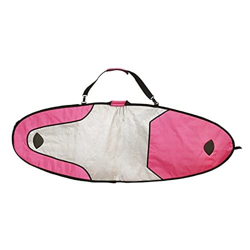 Bolsa de viaje para tabla de surf Bolsa de tabla de surf portátil Viaje Longboard Single 7FT Funda acolchada Soporte de hombro Strap Surfing Bags Accesorios para tablas de surf ( Color : Rose Red )