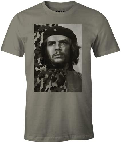Che Guevara MECHEGDTS009 Camiseta, Caqui, XXL para Hombre