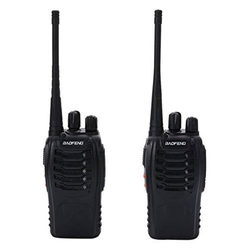 HYLY Baofeng BF-888S 5W 400-walkie Talkie Negro De 470mhz 2pcs Par-Negro 4.72x2.17x0.79