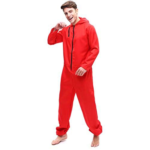 ZHANGXX Dief Huis Van Geld La Casa De Papel Kostuum Jumpsuit Masker Rood Kostuum Halloween Cosplay/party Dress Up Volwassenen Kinderen