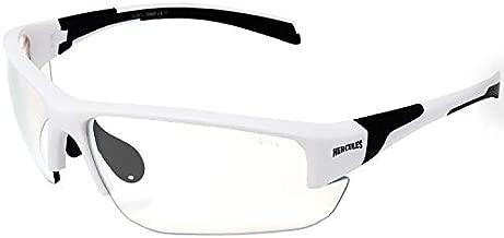 Global Vision Eyewear 24 Hercules 7 Safety Sunglasses, Photochromic Clear to Smoke Lens (White)