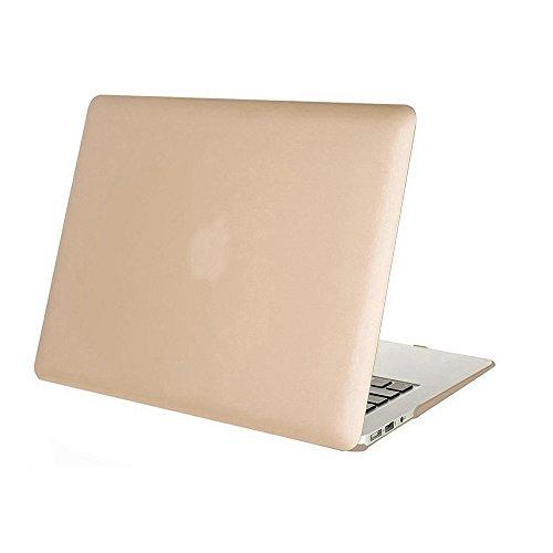 Beebiz Kinghousse-Custodia per MacBook Air 13, Custodia a Guscio in plastica-Custodia di Protezione per MacBook Air da 13 Pollici (Modello A1466/A1369) Custodia Hard Cover Case Oro