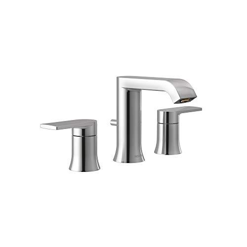 Moen T6708 Genta LX Two Handle Widespread Modern Bathroom Facuet Valve Required, Chrome
