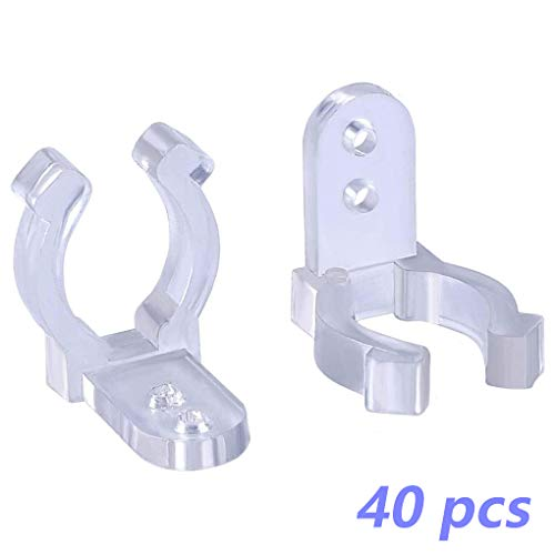 Regard L Mounting Clips for LED Light Mounting Clips for LED Tube 40 Pieces Holder Light Tube
