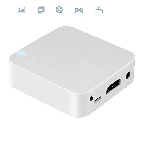 Tangxi Mini Auto WiFi Mirror Box Unterstützt AirPlay, Miracast, Allsharecast, Screen Mirroring, DLNA Screen Mirroring für Handys, WiFi Display Box AV + HDMI
