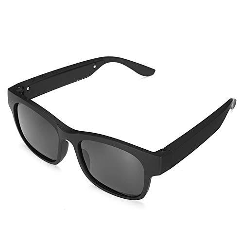 WXJWPZ black3IN1 Bluetooth 5.0 Gafas Inteligentes polarizadas Auriculares Deportivos Gafas de Sol IPX7 Auriculares Auriculares Altavoces con micrófono Conducción Sun Glass