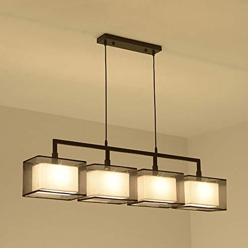 Skingk Moderner minimalistischer Langer Leuchter-kreativer Neuer chinesischer WandlampRestaurant-Tabellen-Tee-Raum-Tee-Tabellen-Studie (Größe : Four Heads)