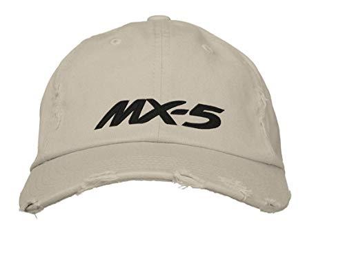 Vercxy Stickerei Mx-5 Gestickte Baseballkappe Hip Hop Kopfbedeckung Baseballmütze Papa Papa Hut Schwarz