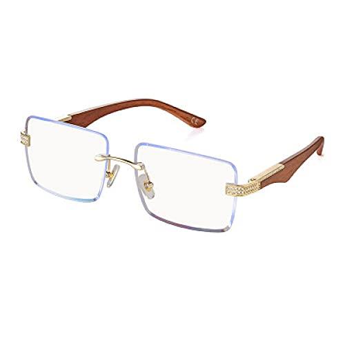 DLSM Gafas de Sol sin Montura con Tachuelas diamantadas, Muy adecuadas para Correr, montañismo, Ciclismo, Motocicletas,-Blanco