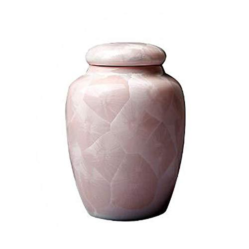 Zidao La cajita Rosa Ceniza, cerámica Sellado con Multifuncional Cubren Resistente a la Humedad Tanque de Almacenamiento de Almacenamiento Animales cremación Ataúd Cineraria,Rosado