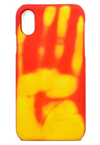 Omio for iPhone XR Thermal Sensor Case Creative Heat Induction Fluorescent Temperature Sensing Cover for iPhone XR Case Ultra Thin Anti-Scratch Stylish Color Changing Protective Case for iPhone XR
