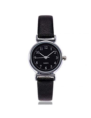 MARRY Damenuhr Damen Elegante Dünne Lederarmbanduhr Damen Mode Kleine Runde Zifferblatt Armbanduhren Business Clock, B.
