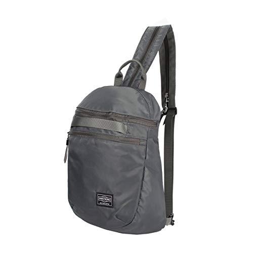 Samstrong Brusttasche Sling Bag links/rechts verstellbar Crossbody Rucksack, Grau (1) (Grau) - B0325-GY