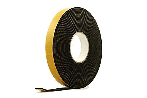 Neoprene Rubber Black Self-Adhesive Sponge Strip 1' Wide x 1/8' Thick x 33 feet Long