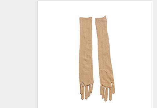 GBSTA witte handschoenen glad zuiver naadloos lange handschoenen betaalbare glad panty's kousen betaalbare zwart wit Beige grijs Beige