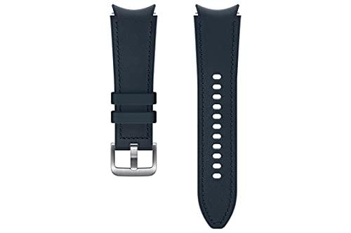 Samsung Correa de reloj híbrida de cuero - Correa de reloj oficial Samsung - 20mm - S/M - Azul marino