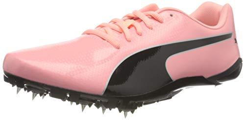 PUMA Evospeed Prep Sprint 2, Zapatillas de Atletismo Unisex Adulto, Elektro Peach Negro Plata, 42.5 EU