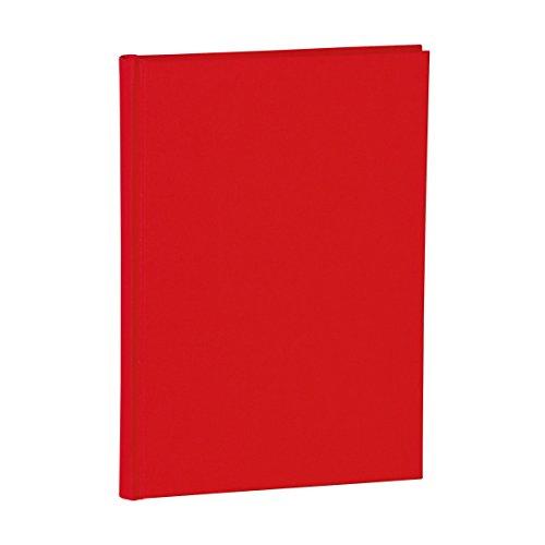 Semikolon (356165) Notizbuch Classic A5 dotted red (rot) | Buchleinenbezug | 160 Seiten mit cremeweißem 100g/m²- Papier | Lesezeichen