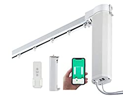 "SimpleSmart Smart WiFi Motor (Built-in Integration with Amazon Alexa and Google Home) Remote Control Smart Motorized Electric Curtain Tracks (300 cm (118""))"