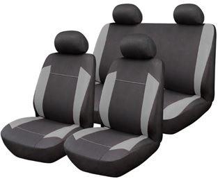 START autostoelhoezen Omega grijs universele stoelhoezen beschermhoezen beschermhoezen auto