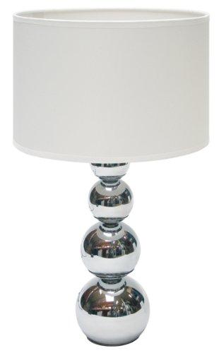 Ranex 6000.074 Tischleuchte mit Touchfunktion, Weiß, 25 x 25 x 43 cm