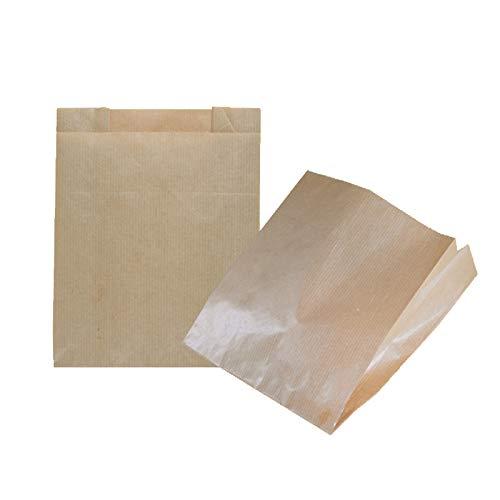 kgpack 100 stuks papieren zakjes kleine 20x20 cm bodemzakken, fruitzakken, cadeauzakjes, boterhamzakjes, snoepgoed, cadeauverpakkingen, gastgeschenkzakjes van bruin kraftpapier