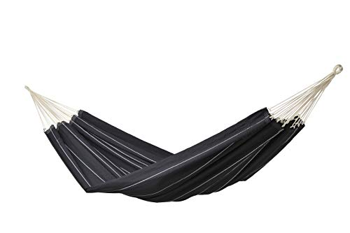 AMAZONAS Black Barbados-Hamaca, Color Negro, 230x150x2 cm