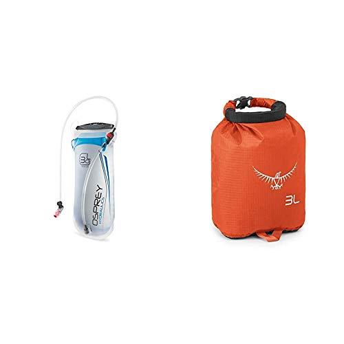 Osprey Hydraulics 3 L Water Hydration Reservoir Blue Ultralight DrySack 3 Poppy Orange
