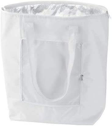 eBuyGB 25 Litre Cool Bag Which Folds Down for Easy Carrying Foldable Cooler Bag (White)