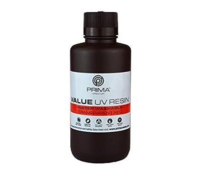 PrimaCreator Value Water Washable UV Resin - 500 ml - Transparent Red