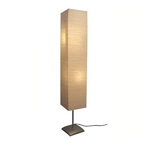 mewmewcat Stehlampe Wohnzimmer Standleuchte Modern Standlampe Stehleuchte Tube Lampenschirm Schlafzimmer, 135 cm Hoch Beige