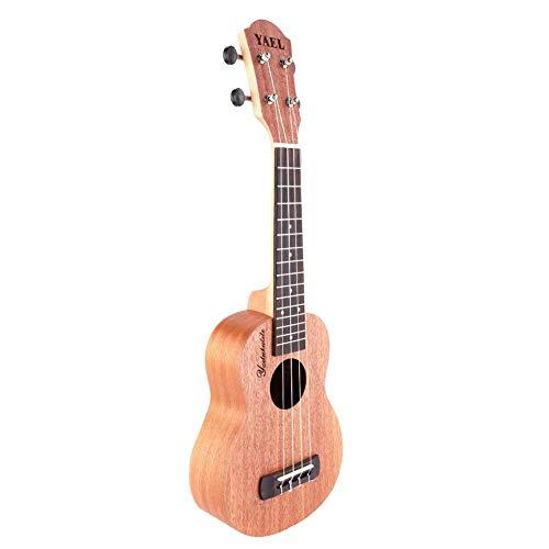 Dilwe Ukelele de 21 Pulgadas, Portátil Ukelele de Madera de Estilo Clásico Ukelele de 4 Cuerdas Hawaii Guitarra Instrumento Musical Regalo para Niños Adultos