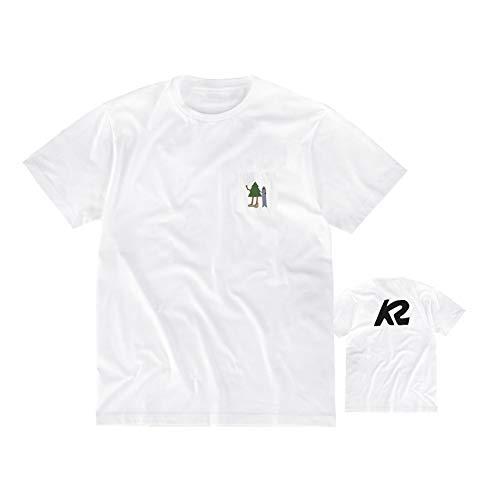 K2 Snowboard Unisex – Volwassenen Tree Man Tee T-shirt, White, L, 20D2400.1.1.L